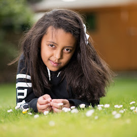 Daisy's  by Paul Putman - Babies & Children Children Candids ( girl, lawn, summer, candid, garden, portrait )