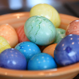 Colored Eggs  by Lorraine D.  Heaney - Public Holidays Easter