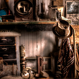 Railroad Office by Michele Richter - Artistic Objects Clothing & Accessories ( hdr )