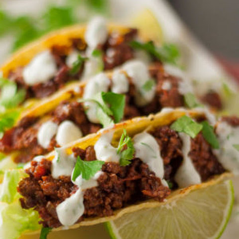 Amazing Spicy Sweet Tacos with Lime Sour Cream