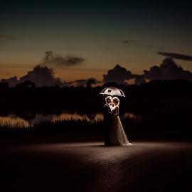 Just the two of us by Paul Duane - Wedding Bride & Groom ( ireland, sunset, wedding, bride, groom )