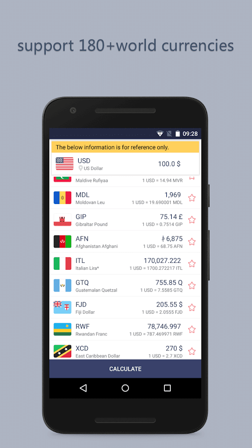 Currency Exchange NoAd Screenshot 1