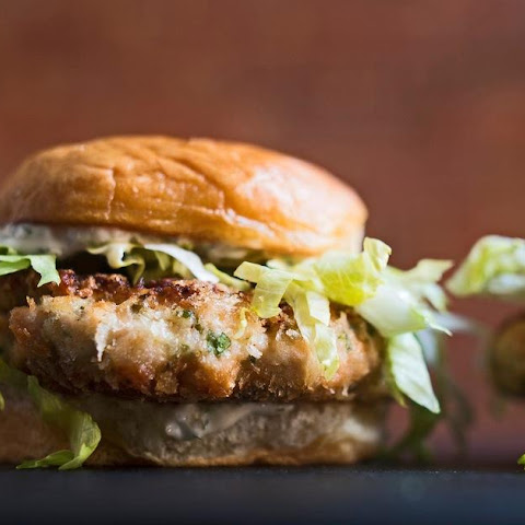 Salmon Burgers with Sweet Pickle Relish