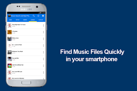 Music Search and Mp3 Player - screenshot