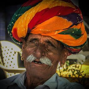Old Man by Karin Wollina - People Portraits of Men ( jaipur, rajasthan, india, portrait, man,  )