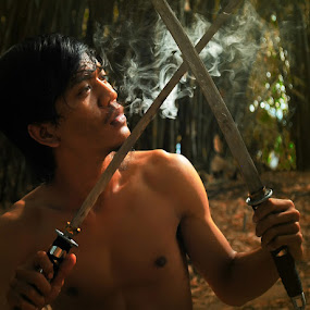 Mistycus Sword by Wiji Yudhi - People Portraits of Men ( mistyc, cult, warriorr, samurai, sword, knight )
