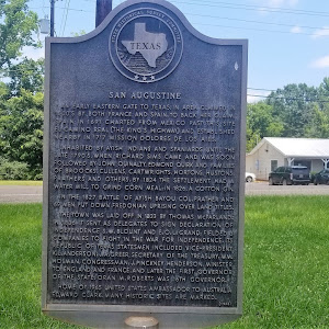 An early eastern gate to Texas, in area claimed in 1600's by both France and Spain. To back her claim, Spain in 1691 chartered from Mexico past this site El Camino Real (The King's Highway) and ...