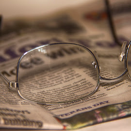 Glasses by Keith Wood - Artistic Objects Other Objects ( glasses, macro, paper, micro, kewphoto,  )