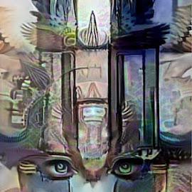 guardian of light by Josiah Hill-meyer - Digital Art Abstract