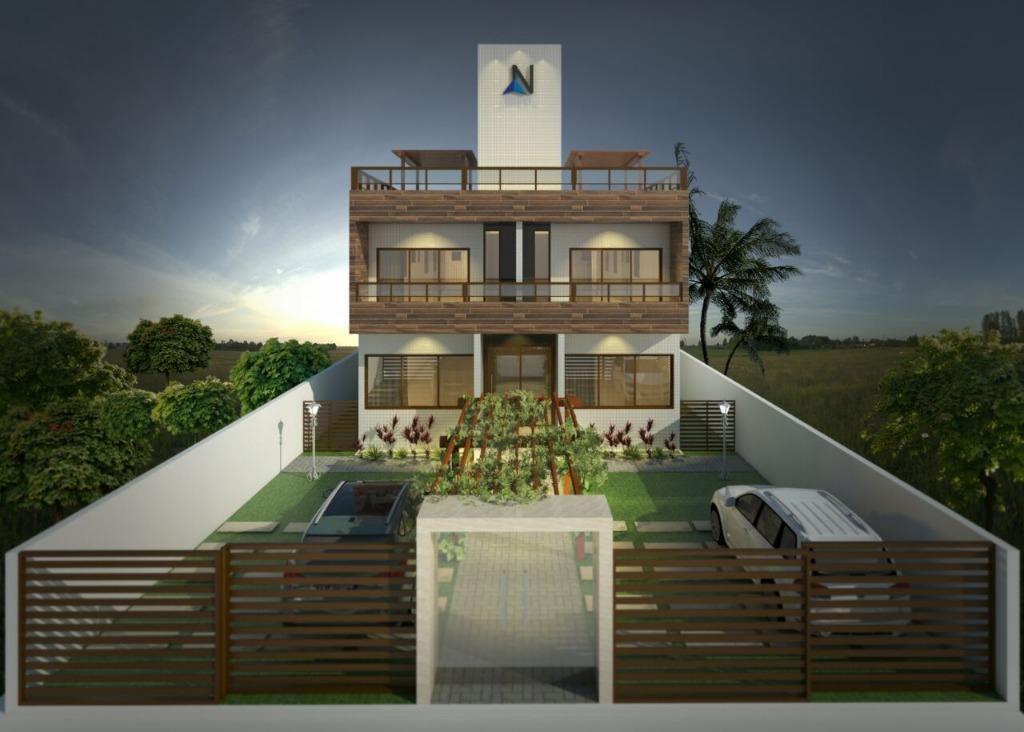 Apartamento com 3 dormitórios à venda, 73 m² por R$ 275.000,00 - Camboinha - Cabedelo/PB