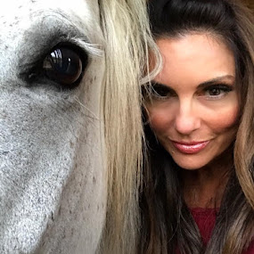 The Eyes Have It by Christopher Estrada - People Portraits of Women ( mustang, horses, beauty, eyes,  )