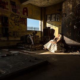 Light by Lee Niven - Wedding Other ( studio, model, bridal, lighthouse, kate, wedding dress )