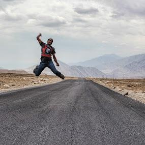 A Jump of Joy !! by Mangesh Jadhav - Public Holidays Other ( leh, kargil, joy, me, jump,  )