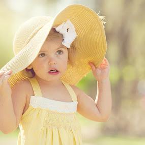 I won't give it back by Michiyo Clark - Babies & Children Child Portraits ( instagram, girl, dallas, facebook, beautiful, children, yellow, cute, photography, portrait, hat )