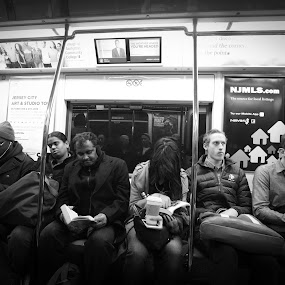 The Path by VAM Photography - Black & White Street & Candid ( b&w, subway, nyc, places, people, street photography,  )