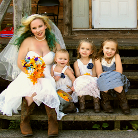 Bride and the girls by Cheryl Korotky - Wedding Groups