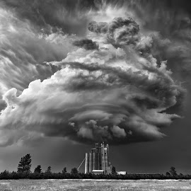 by Rob Darby - Landscapes Weather ( kanses, monochrome, mesocyclone )
