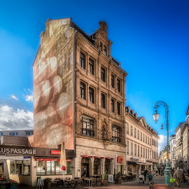 Rathauspassage by Ole Steffensen - City,  Street & Park  Street Scenes ( shops, street, art, facade art, wiesbaden, germany, rathauspassage )