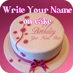Cake with name wishes write name on cake android apps on google play - Write name on cake ...