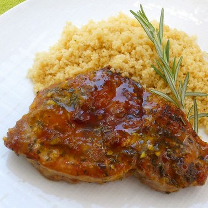 Apricot Pork Chops with Rosemary Recipe | Yummly