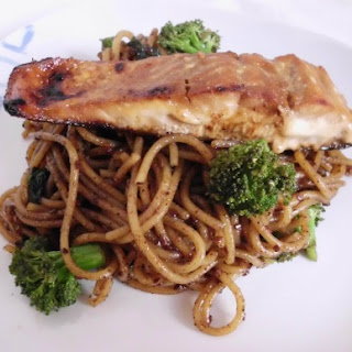 Teriyaki Salmon with Spicy Asian Noodles