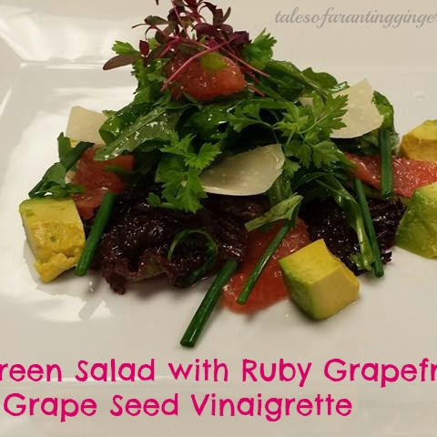 Green Salad with Ruby Grapefruit & Grape Seed Vinaigrette