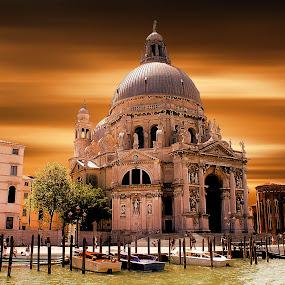 Basilica di Santa Maria della Salute by Pieter Arnolli - Buildings & Architecture Public & Historical ( europe, church, venice, travel, basilica, italy )