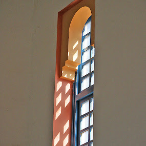 Moroccan window by Gale Perry - Buildings & Architecture Architectural Detail ( vertical, moroccan window, multi colored,  )