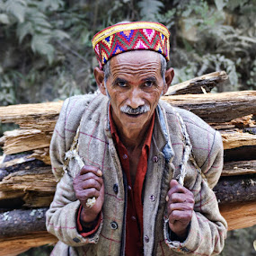 Village Life by Veeresh Pathania - People Portraits of Men