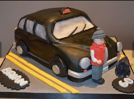 Hackney taxi shaped cake