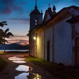 capela church by Wado Chicchan - City,  Street & Park  Street Scenes ( sony, paraty brasil, church, capela, rj )
