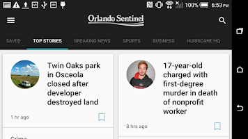 Screenshot of Orlando Sentinel