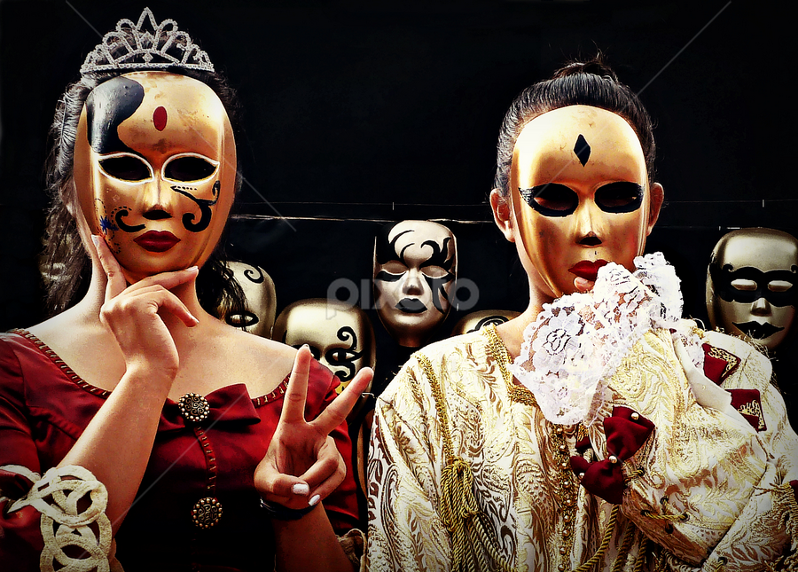 Masquerade by Ian Gledhill - Public Holidays Other ( fashion, color, masquerade, art, masks, mask, gold, party, portrait, culture, , Street Art )
