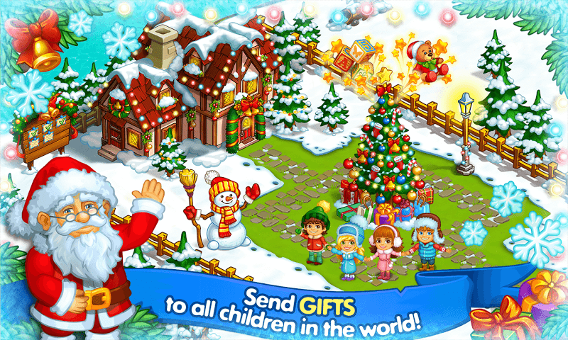 Farm Snow: Happy Christmas Story With Toys & Santa Screenshot 5