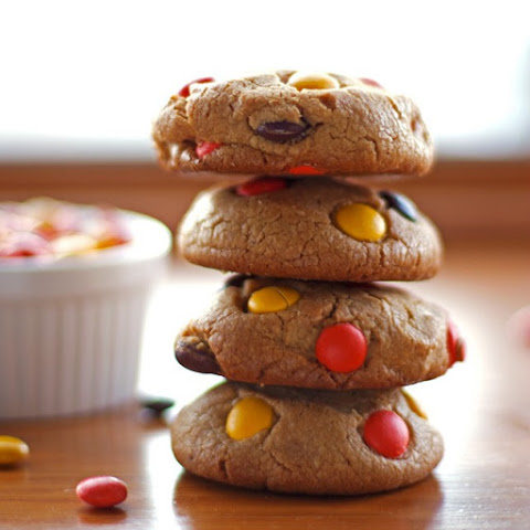 Soft Peanut Butter Cookies with Reese's Pieces