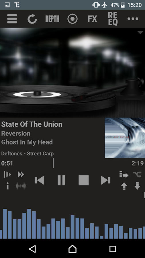 T Music Player + RE Equalizer Screenshot 2