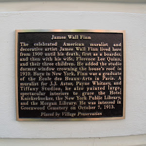 James Wall Finn   The celebrated American muralist and decorative artist James Wall Finn lived here from 1900 until his death, first as a boarder, and then with his wife, Florence Lee Quinn, and ...