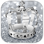 Diamond Crown Silver Glitter Theme Icon