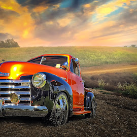 Chevy by Apollo Reyes - Transportation Automobiles ( hills, sky, grass, chevrolet, truck, chevy )
