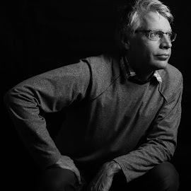 Dominance by Amy Hawker - People Portraits of Men ( studio, pose, black and white, man, portrait )