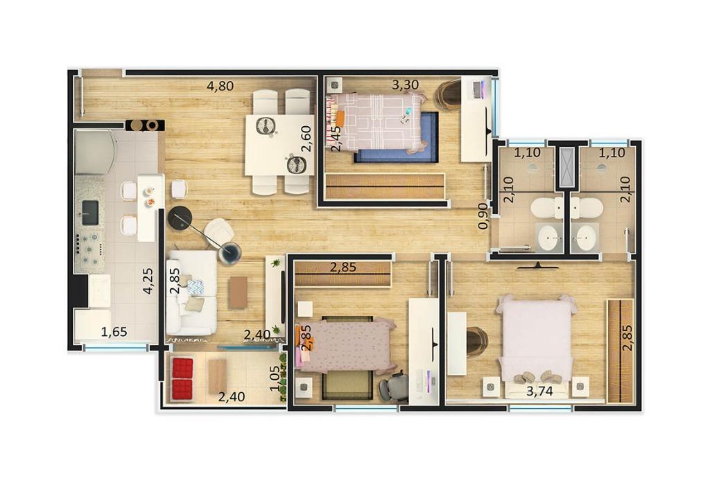 Apartamento à Venda - Nova Itatiba