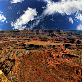 Canyonlands by Marco Caciolli - Landscapes Travel ( sky, desert, canyonlands, arizona, cloud, canyon, west america, rock, travel, landscapes )