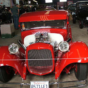 Red Classic Car by Jacob Woolwine - Transportation Automobiles ( colors, cars, jacob )