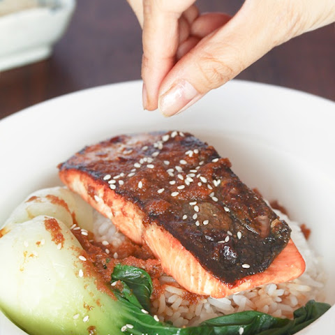 Crispy Salmon with Ginger Soy Sauce