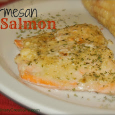 The Best Parmesan Crusted Salmon Ever!