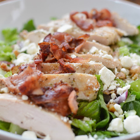 Grilled Chicken Salad with Feta and Dates