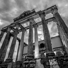templo de Diana, Mérida by Roberto Gonzalo - Black & White Buildings & Architecture