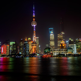 Shanghai Lights by Craig 'Gurdy' Gurden - City,  Street & Park  Skylines