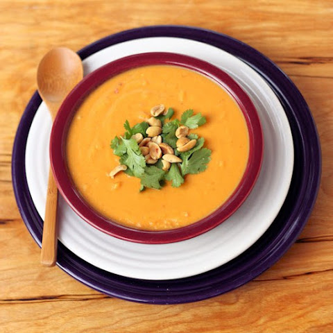 Thai Curry Sweet Potato and Peanut Soup