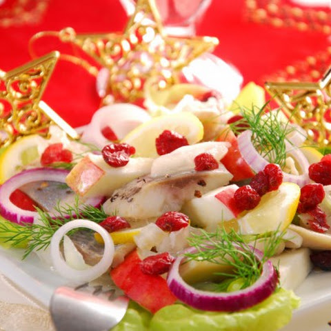 Herring, Apple And Cranberry Salad